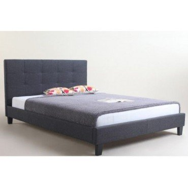Carrington Leatherette Queen Bed Frame